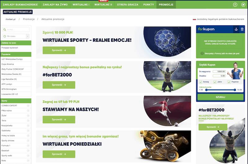 bonusy w forbet online