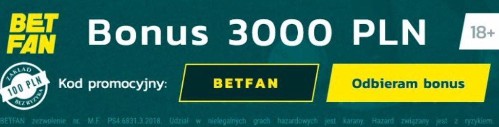 betfan premia bonus kod promocyjny